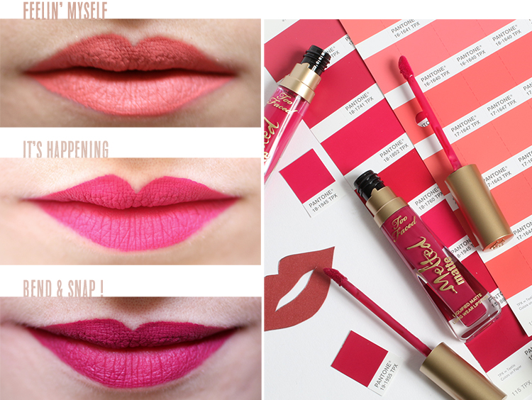 melted matte too faced lipsticks matte nouveauté make up tiboudnez blog beauté