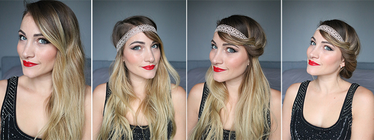 tiboudnez blog beaute the monday tutorial coiffure maquillage gatsby années folles
