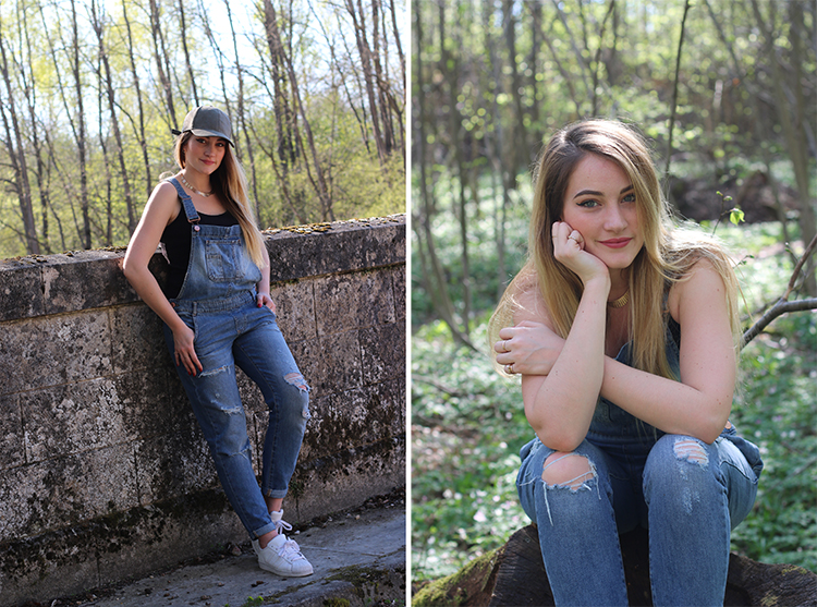 tiboudnez look blog mode printemps primark salopette jeans blonde